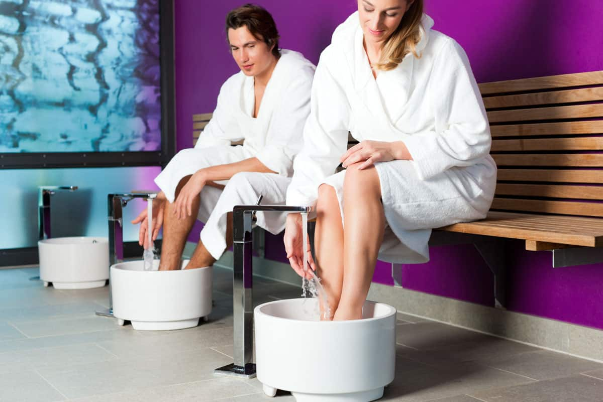 hydrotherapy hand and feet bath