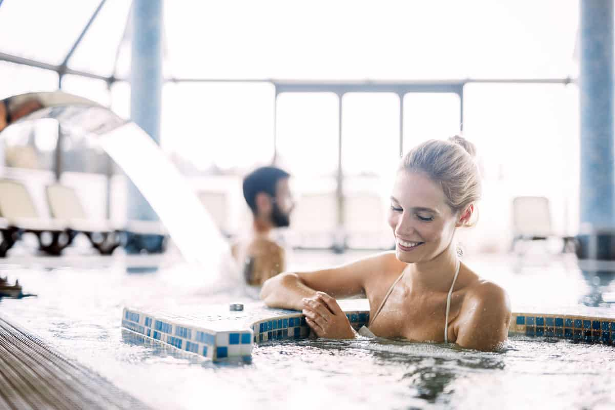 Hydrotherapy - Woman relaxing in a pool